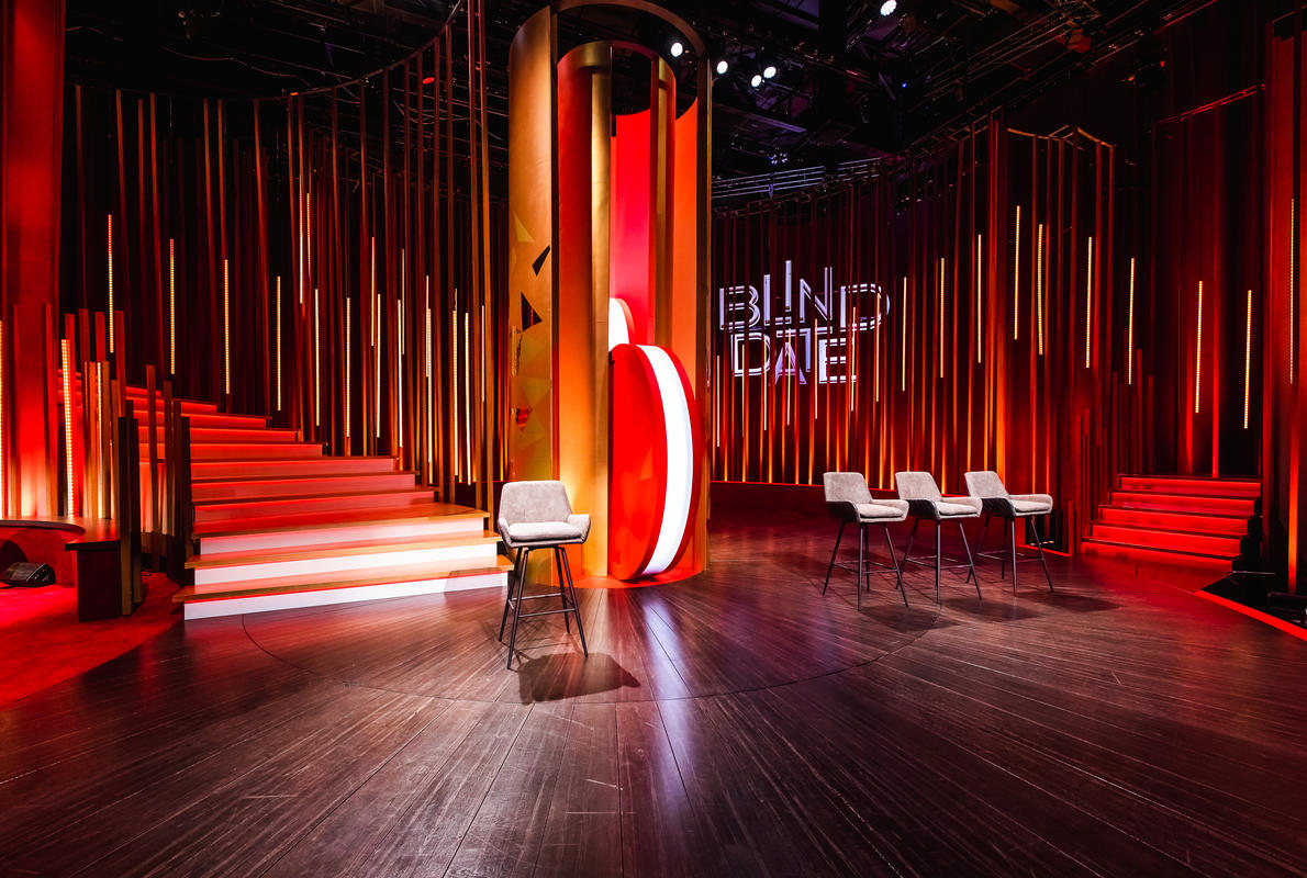 Photograph from Blind Date - lighting design by Luc Peumans