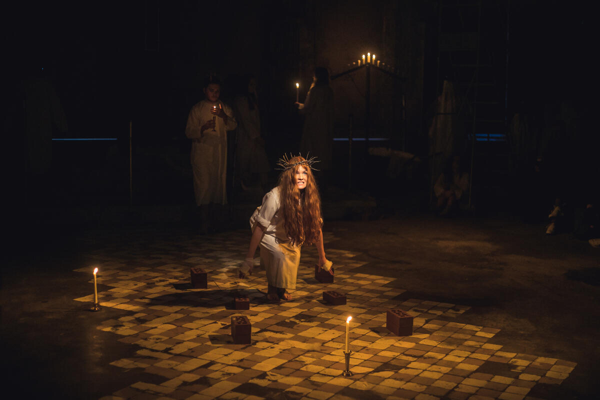 Photograph from The Mysteries Part III: Doomsday - lighting design by Ellen Butterworth-Evans