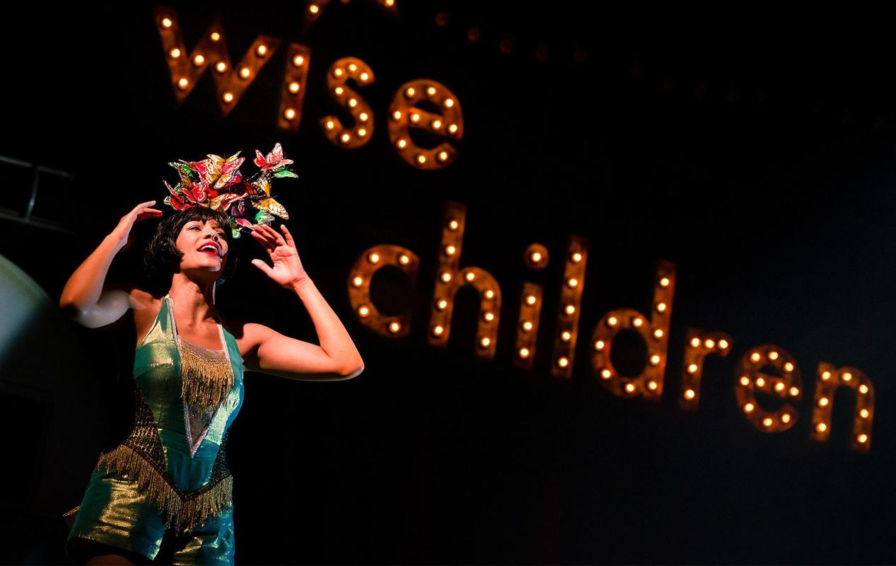 Photograph from Wise Children - lighting design by Malcolm Rippeth