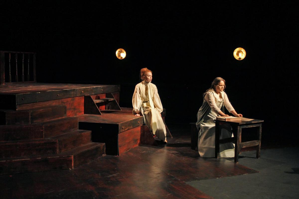 Photograph from The Glove Thief - lighting design by Jack Wills