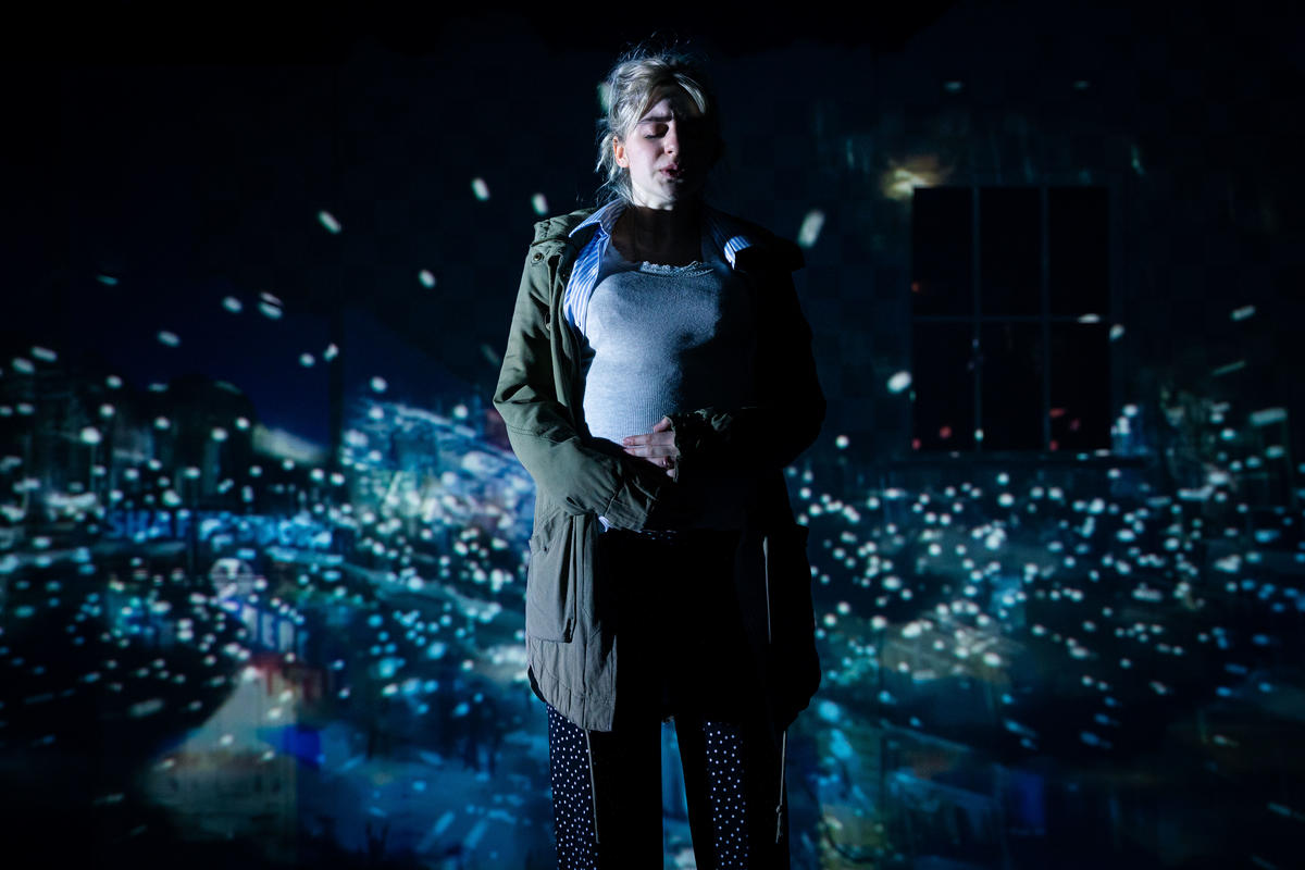 Photograph from Earthquakes In London - lighting design by Jamila