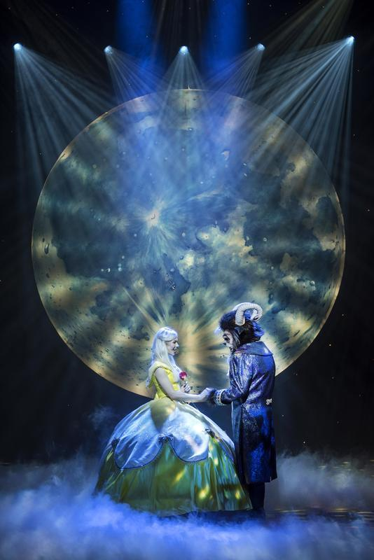 Photograph from Beauty and the Beast - lighting design by Jason Addison