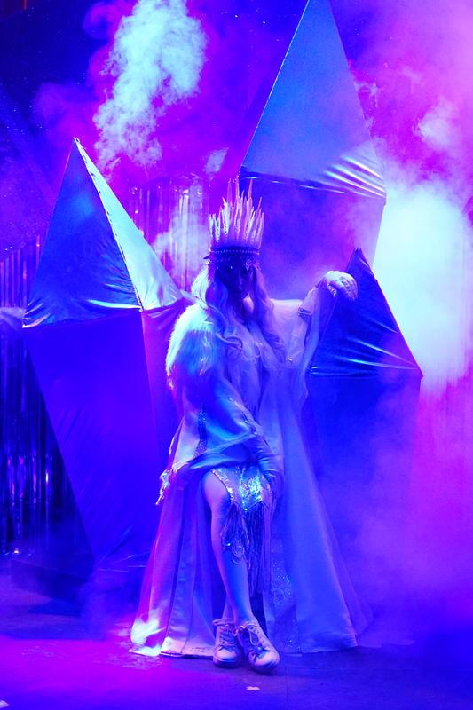 Photograph from The Frozen Princess - lighting design by James McFetridge