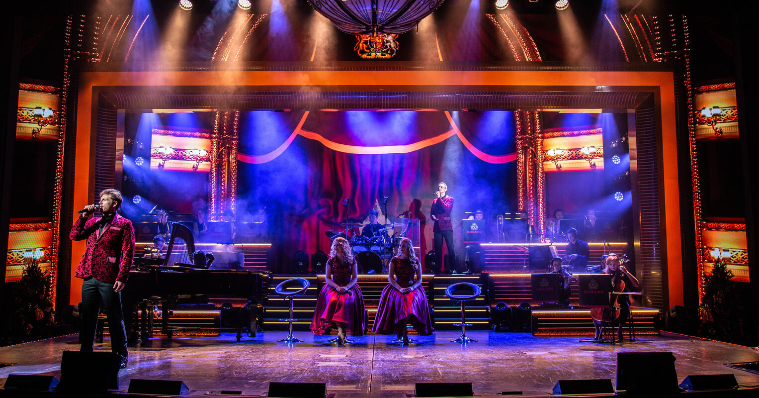 Photograph from Symphony - lighting design by Archer