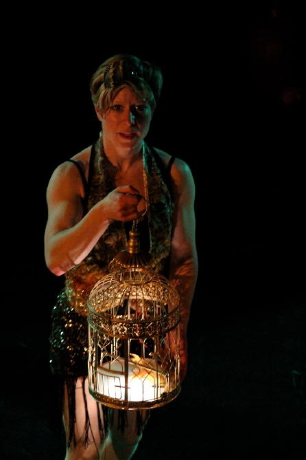 Photograph from FLOCK - lighting design by Louise Gregory