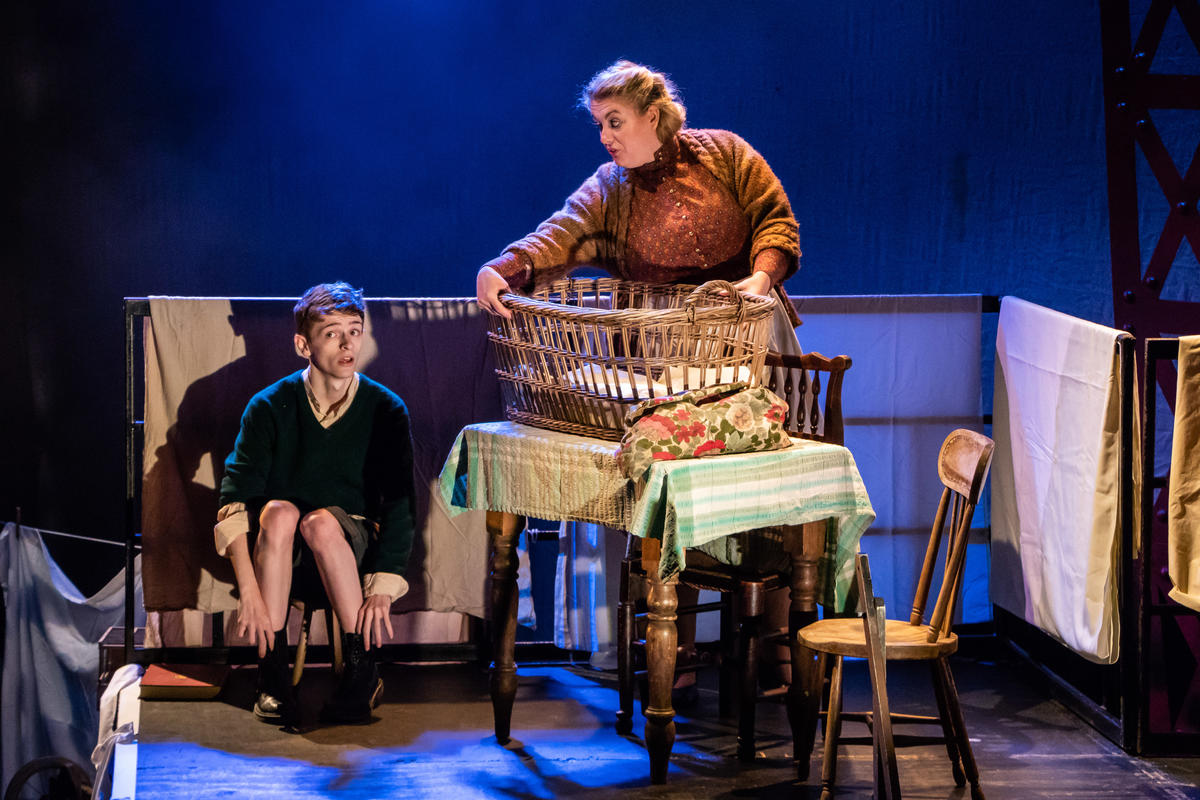 Photograph from My Uncle Freddy - lighting design by Johnathan Rainsforth