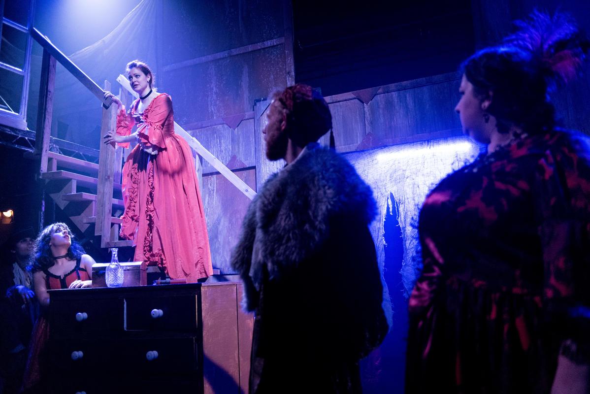 Photograph from The Beggar's Opera - lighting design by Charlie Morgan Jones