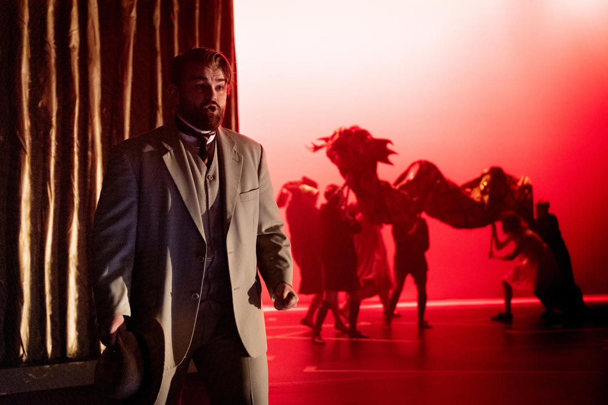 Photograph from The Magic Flute - lighting design by Charlie Morgan Jones