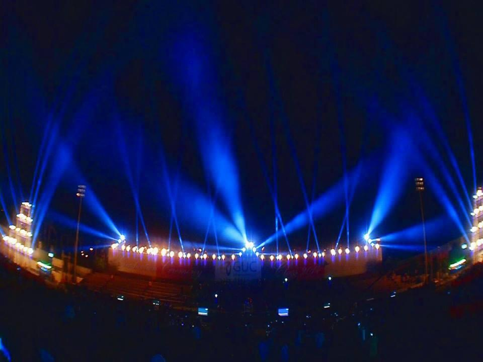 Photograph from German University in Cairo Graduation - lighting design by Mohamed Ghanem