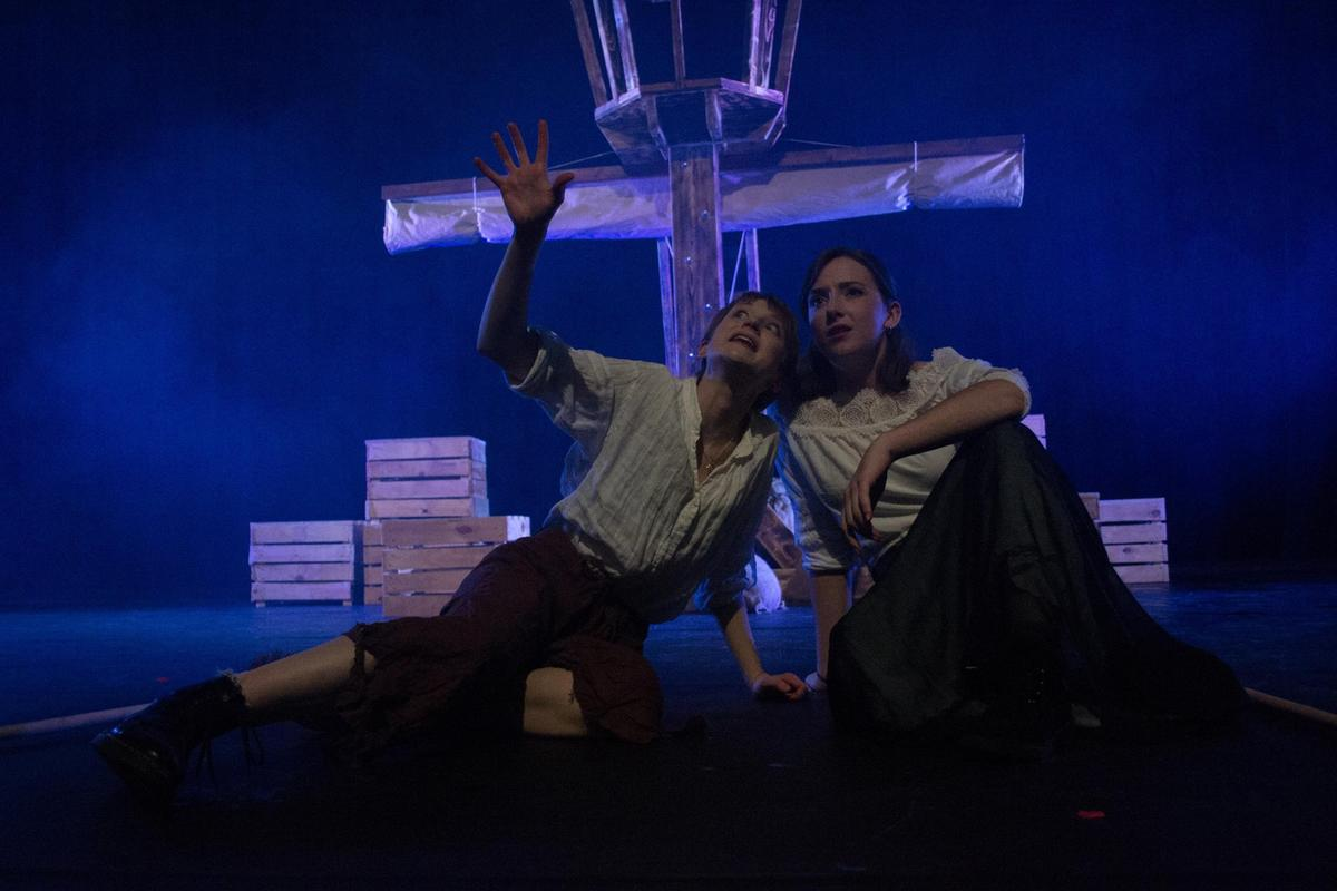 Photograph from Hamlet - lighting design by CatjaHamilton