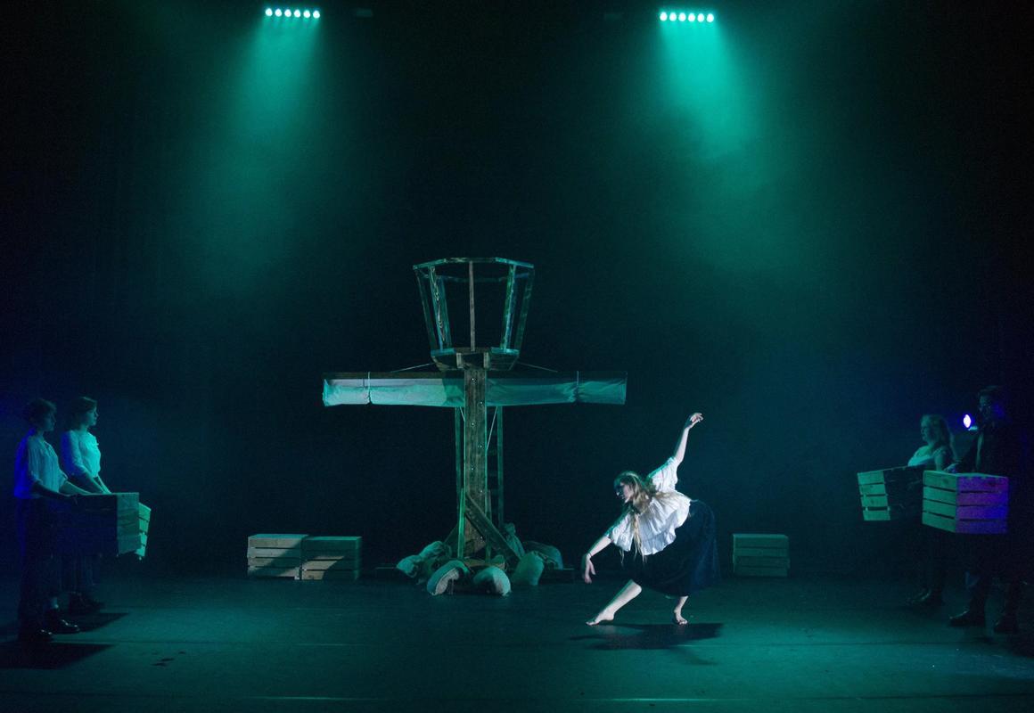 Photograph from Hamlet - lighting design by CatjaHamilton