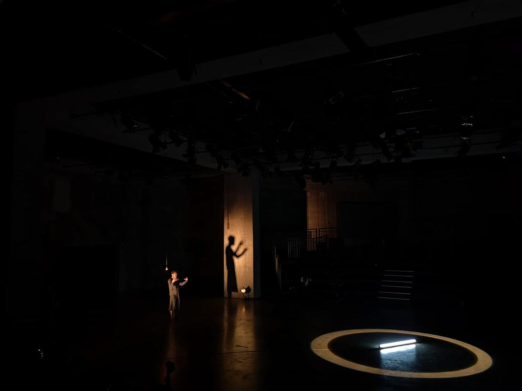 Photograph from My Body, My Archive, TATE Live exhibition - lighting design by Marty Langthorne