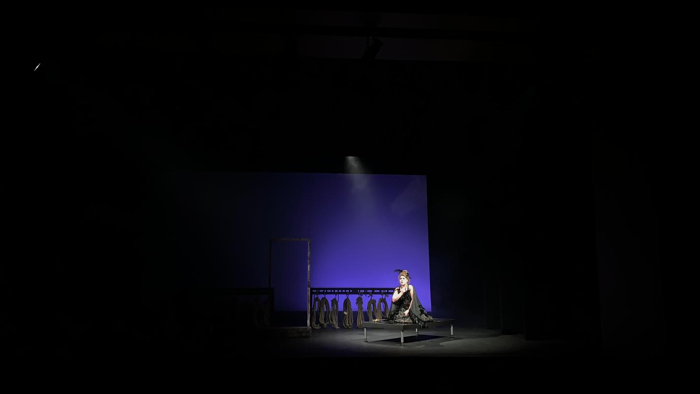 Photograph from Royal Academy Vocal Scenes - lighting design by Jack Wills