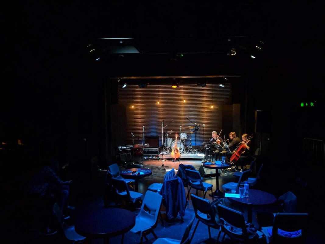 Photograph from Song Factory - lighting design by Alan Mooney