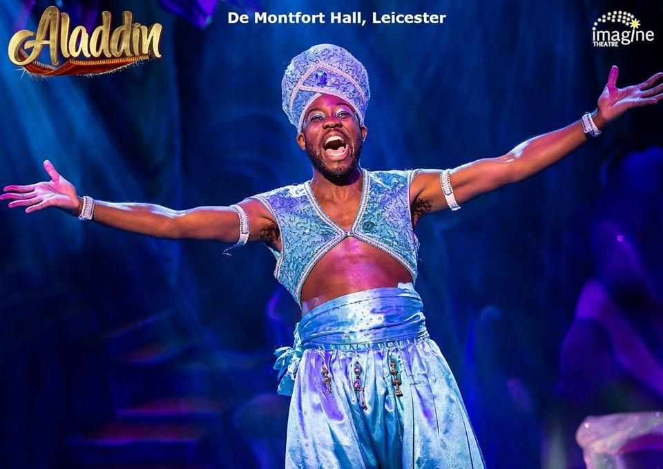 Photograph from Aladdin - lighting design by Matt Ladkin