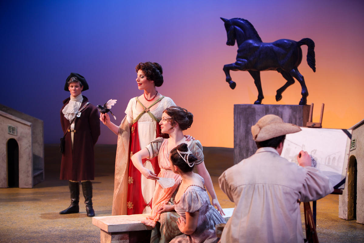 Photograph from Much Ado about Nothing - lighting design by Brendan Albrey