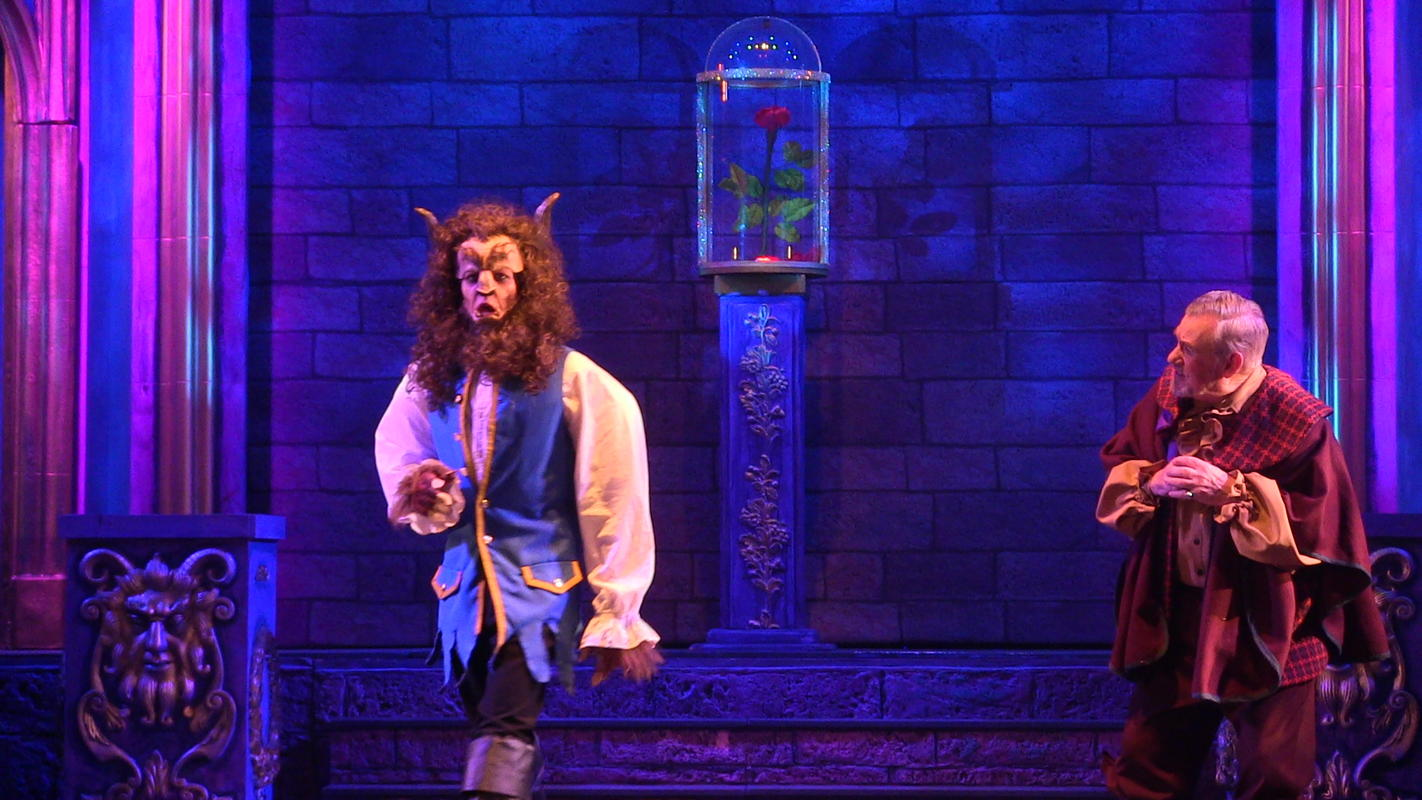 Photograph from Beauty & The Beast - lighting design by Pete Watts