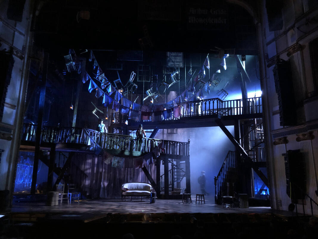 Photograph from Oliver - lighting design by David Howe