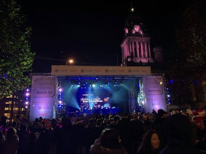Photograph from Christmas Lights Switch On Leeds - lighting design by Jason Salvin