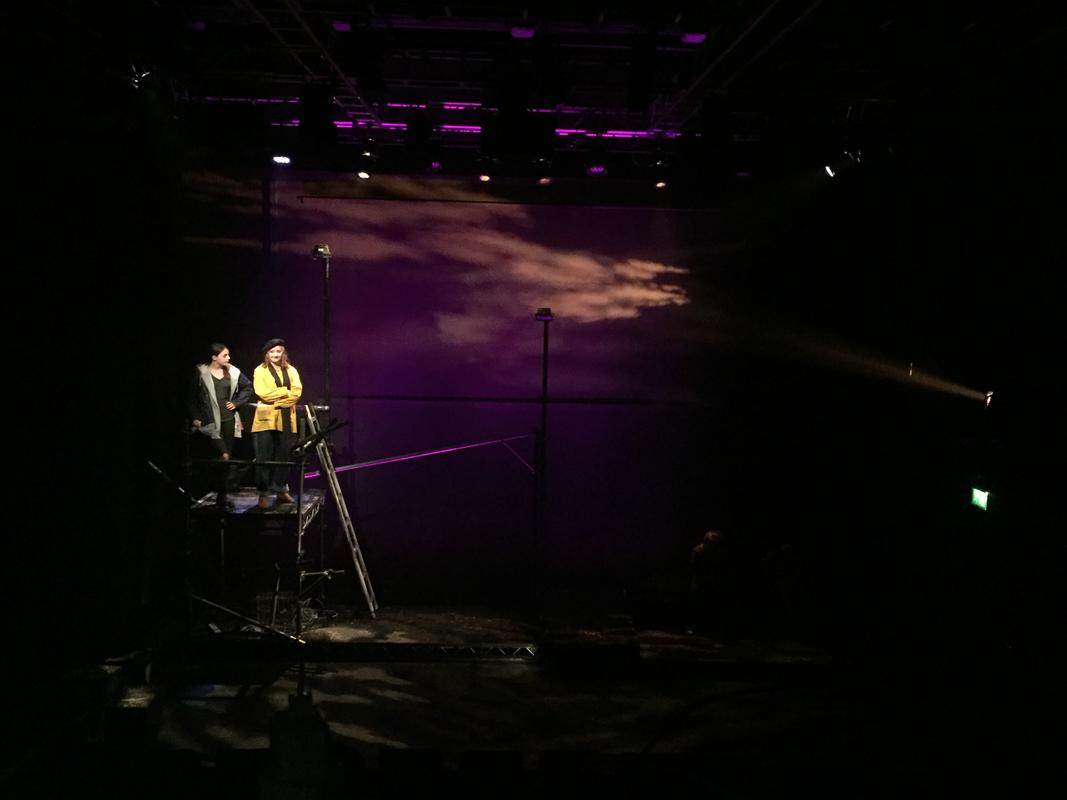 Photograph from This Changes Everything - lighting design by Jason Addison