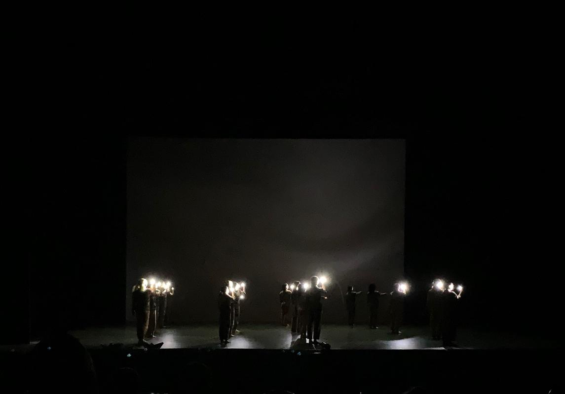 Photograph from Dance Journeys 2019 - lighting design by Zeynep Kepekli
