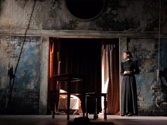 Photograph from Cymbeline - lighting design by Joshua Gadsby