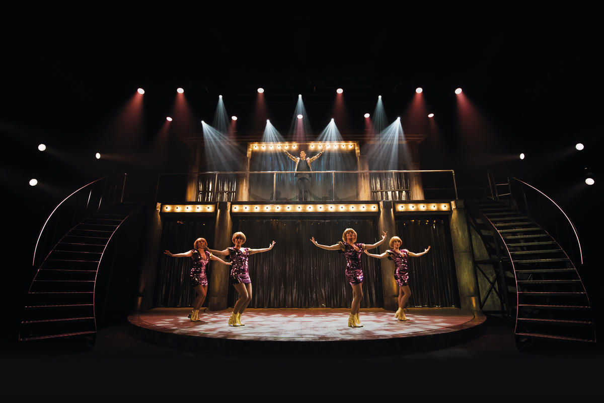 Photograph from Iedereen Beroemd, the musical - lighting design by Luc Peumans