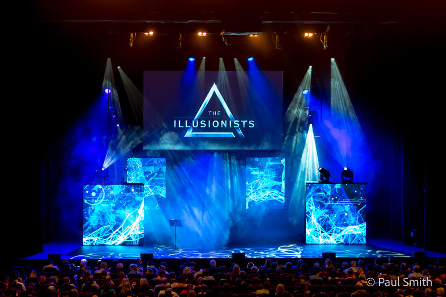 Photograph from Illusionists: Direct from Broadway - lighting design by Paul Smith