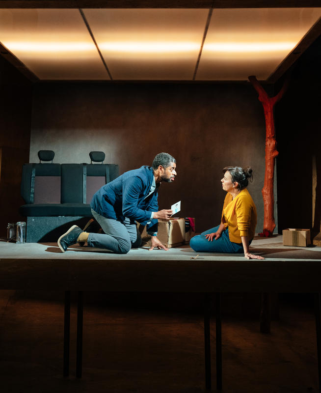 Photograph from In A Word - lighting design by Joshua Gadsby