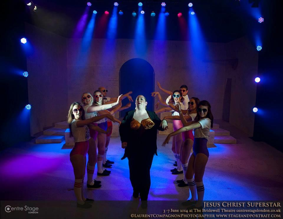 Photograph from Jesus Christ Superstar - lighting design by Max Blackman