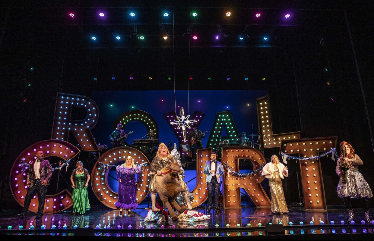 Photograph from Royal Court Selection Box - lighting design by Jamie Jenkin