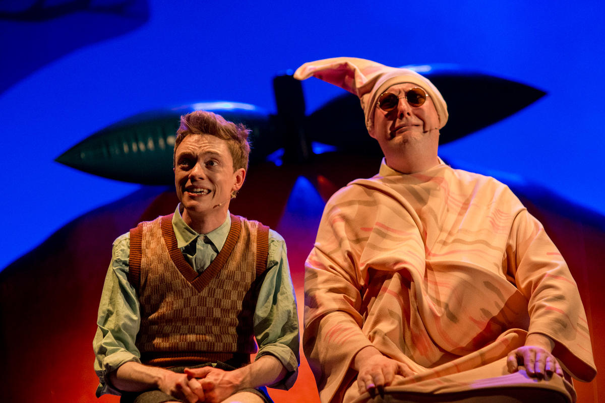 Photograph from James and the Giant Peach - lighting design by Charlie Morgan Jones
