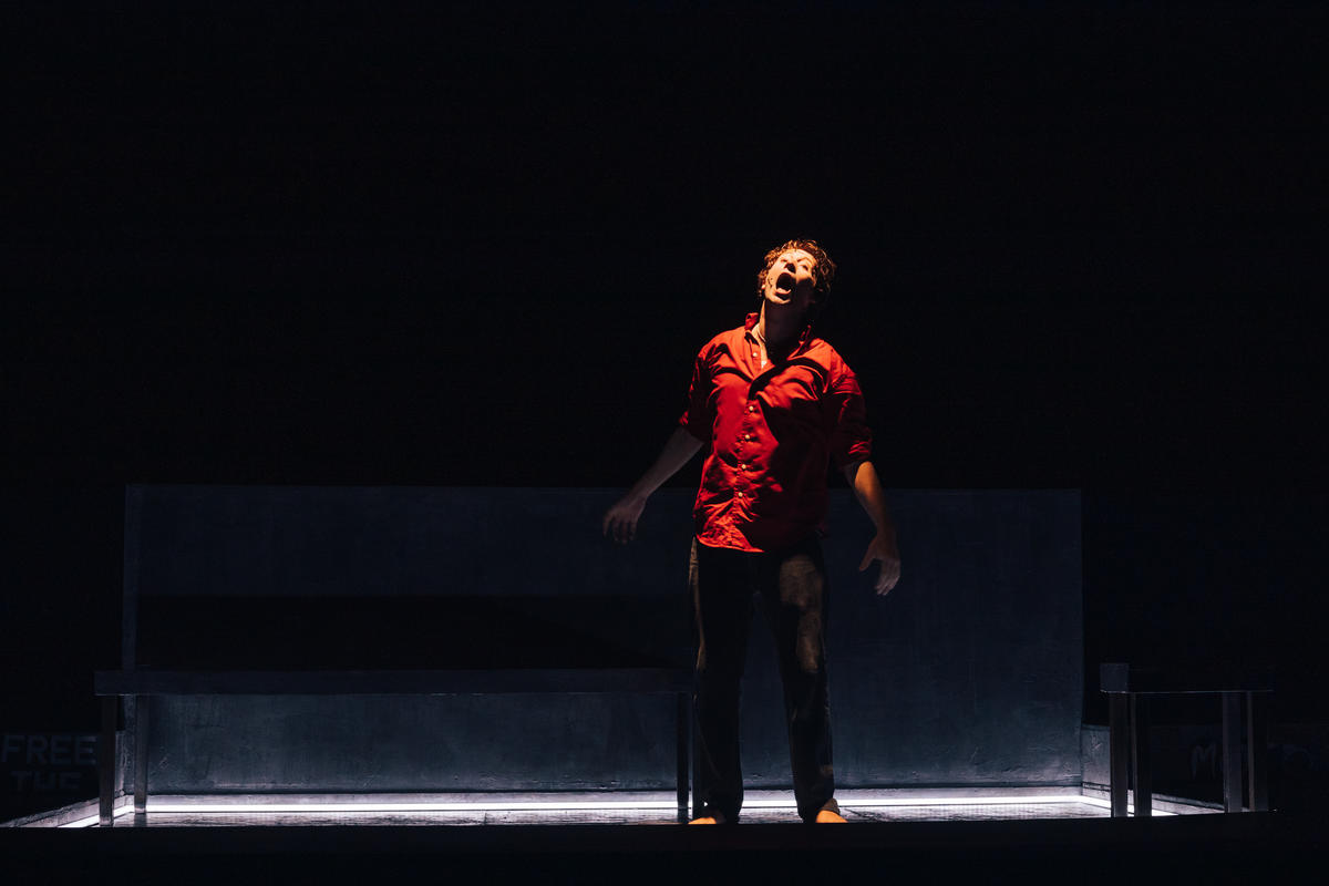 Photograph from In The Name of the Son - lighting design by James McFetridge