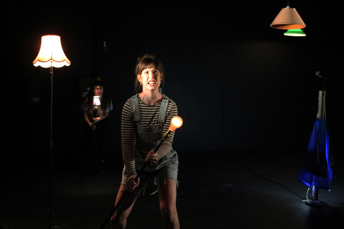 Photograph from Gutted - lighting design by Marty Langthorne