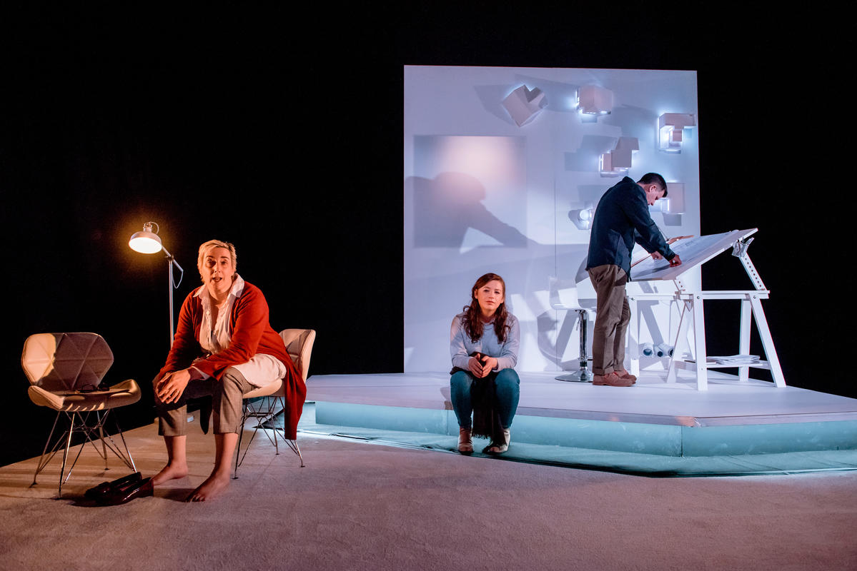 Photograph from Descent - lighting design by Laura Hawkins