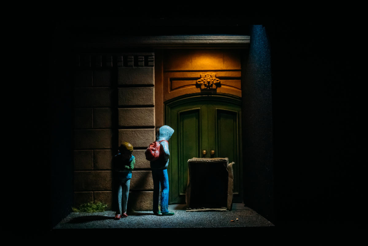 Photograph from Flight - lighting design by Simon Wilkinson