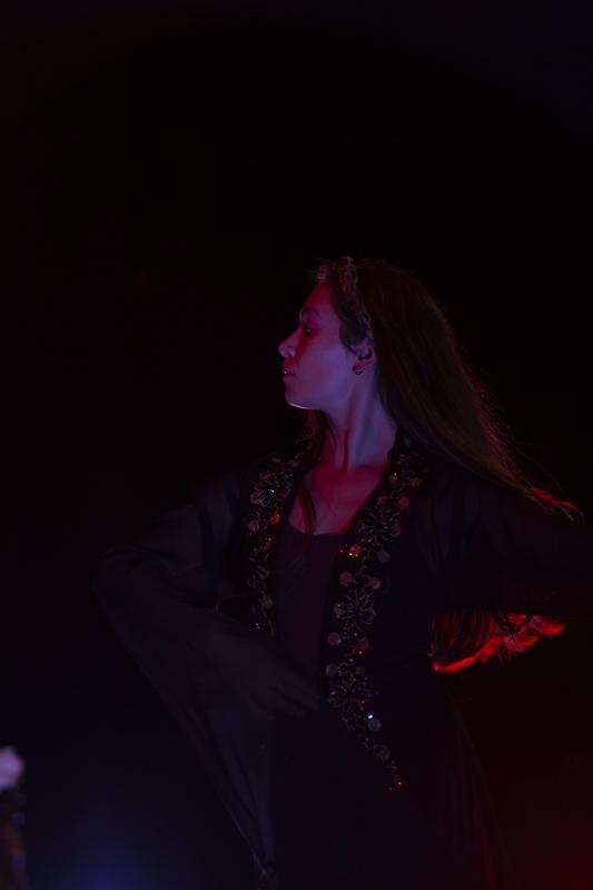 Photograph from Zaryab - lighting design by Claire Childs