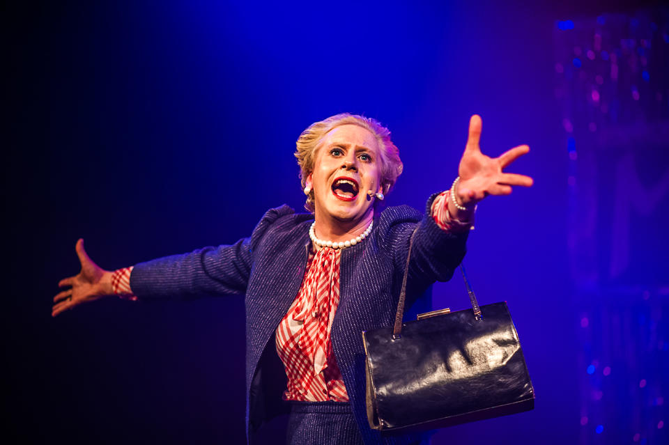 Photograph from Margaret Thatcher, Queen of Soho - lighting design by Alex Fernandes