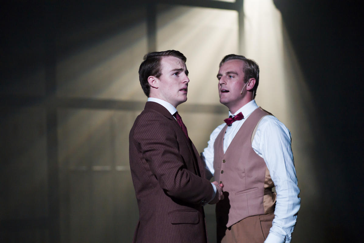 Photograph from Thrill Me: The Leopold and Loeb Story - lighting design by Richard Williamson
