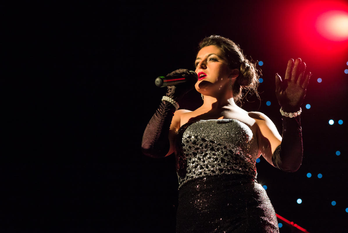 Photograph from The Rat Pack - Live - lighting design by Richard Williamson