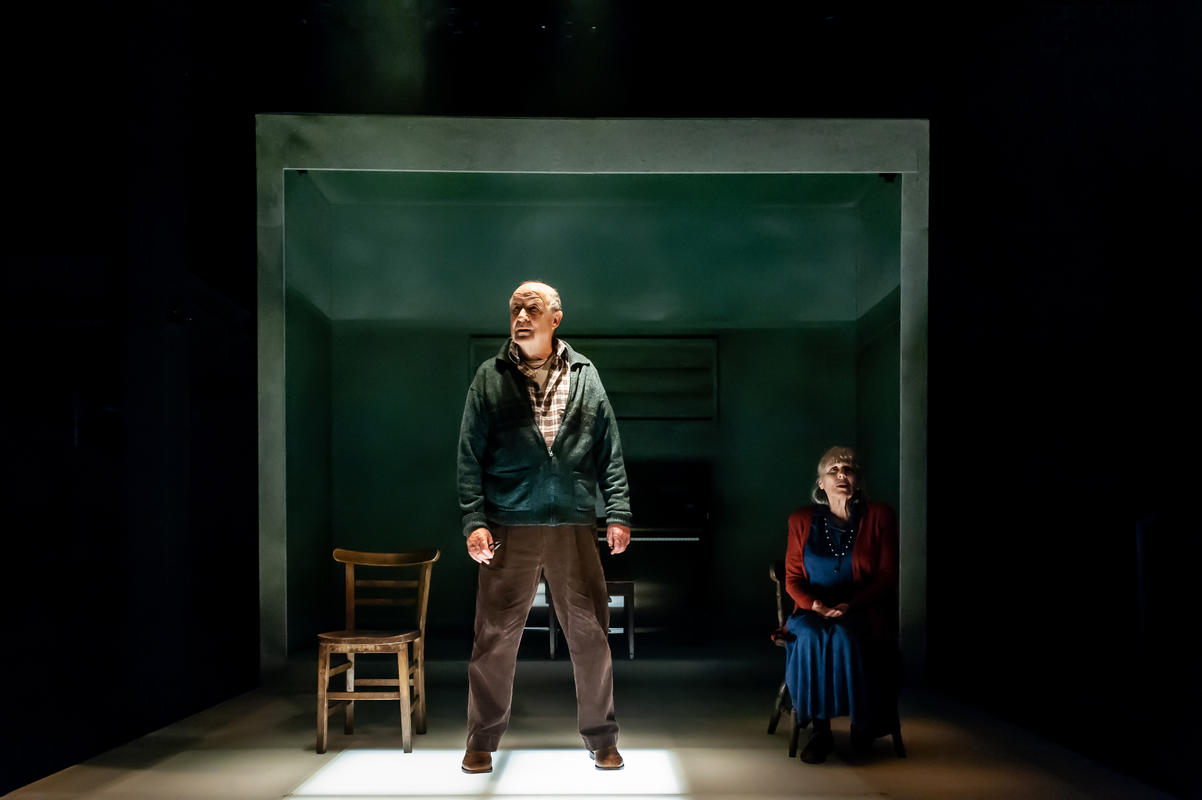 Photograph from Not Talking - lighting design by Zoe Spurr