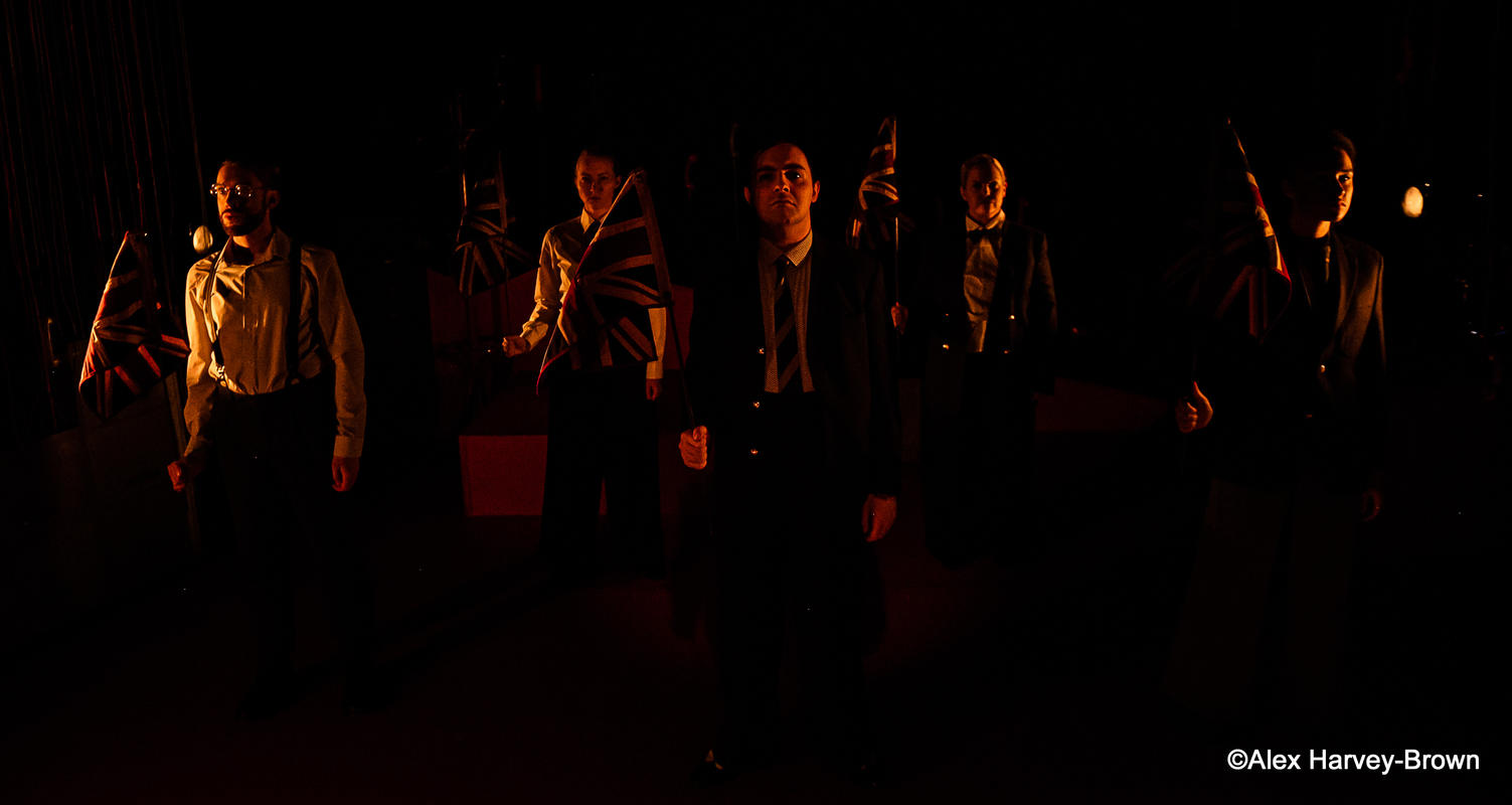 Photograph from Operation Mincemeat - lighting design by Sherry Coenen