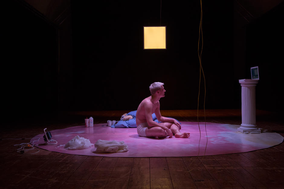 Photograph from HARD C*CK - lighting design by Joshua Gadsby