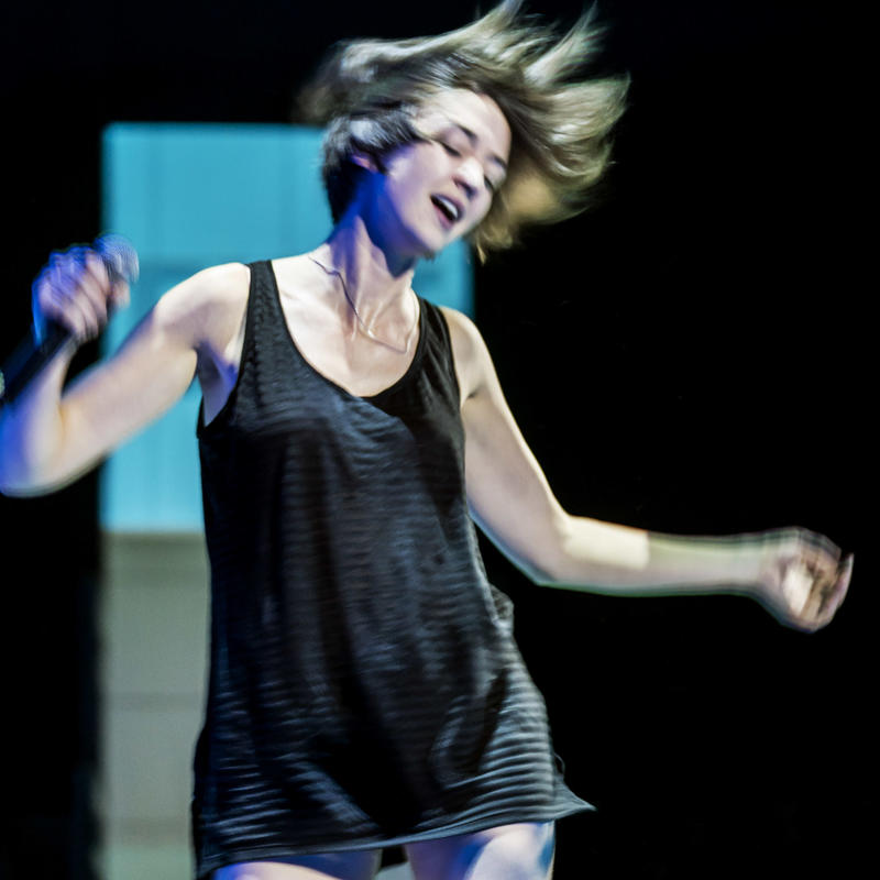 Photograph from People Places and Things - lighting design by Chris May