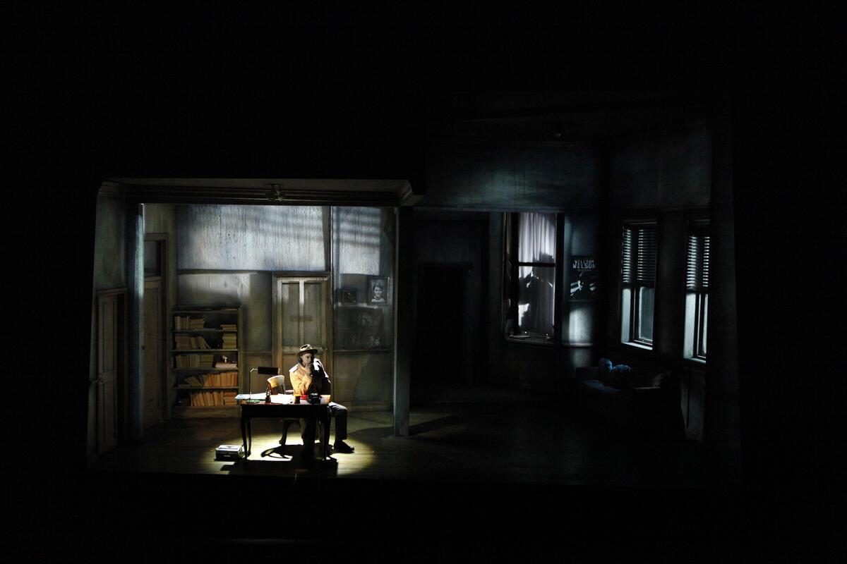 Photograph from City of Glass - lighting design by Matt Daw