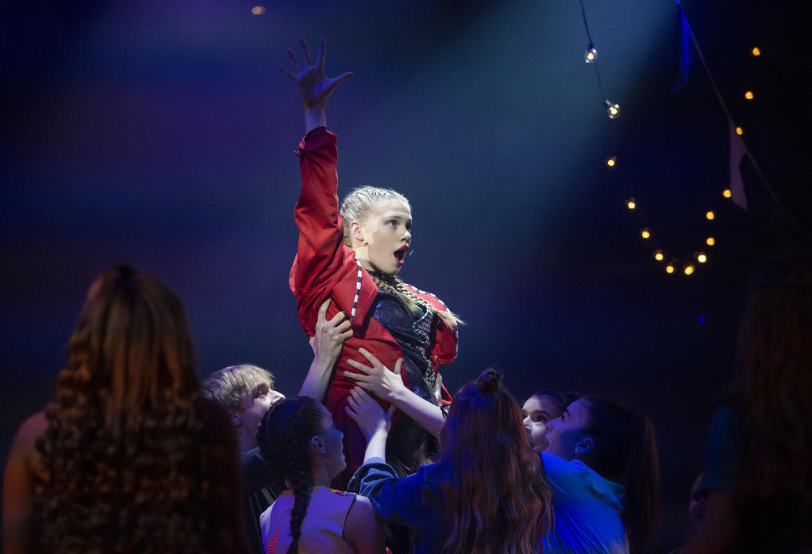 Photograph from Pippin - lighting design by Tom DR Smith