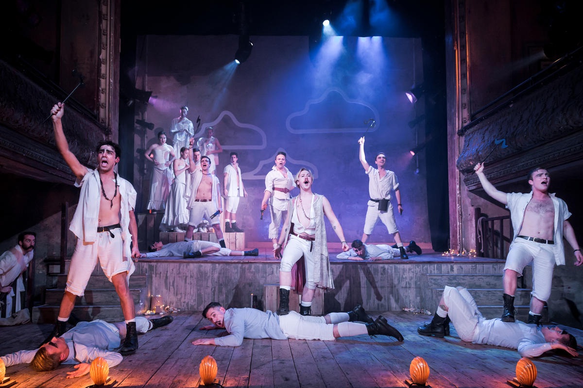 Photograph from The Pirates of Penzance - lighting design by Ben Bull