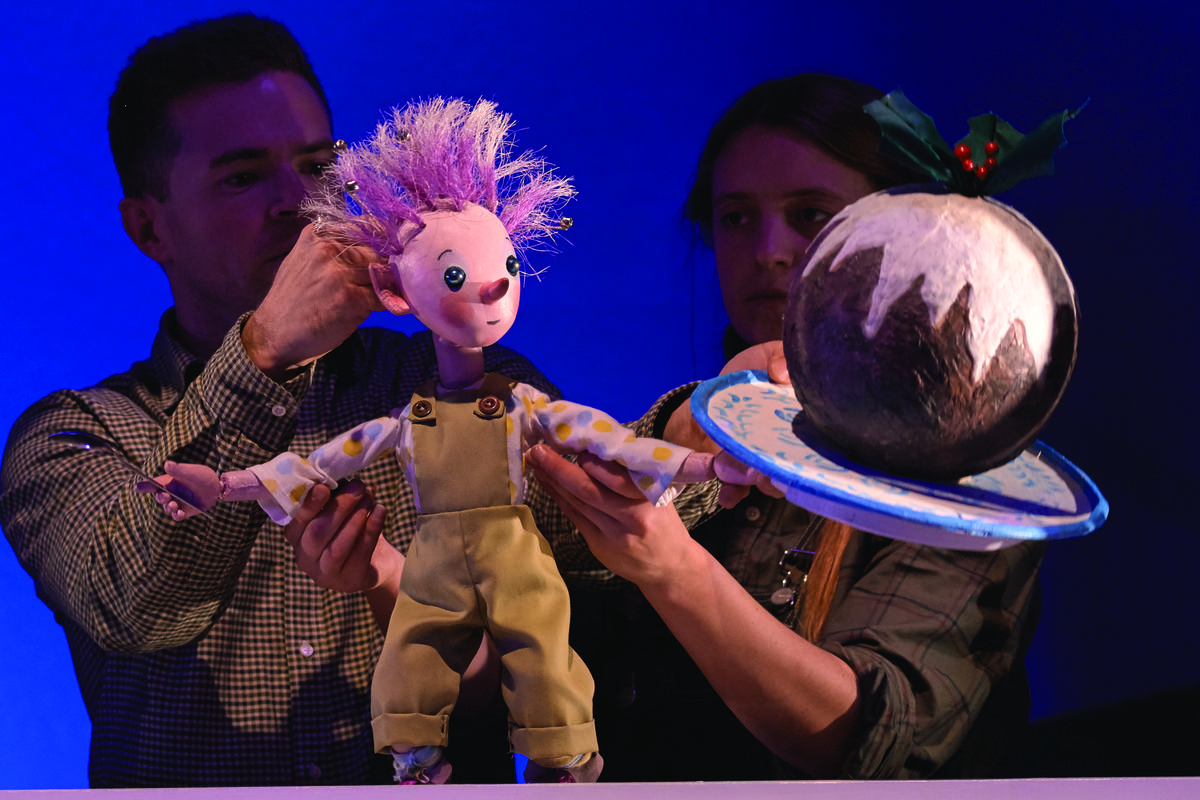 Photograph from The Pixie and the Pudding - lighting design by Sherry Coenen