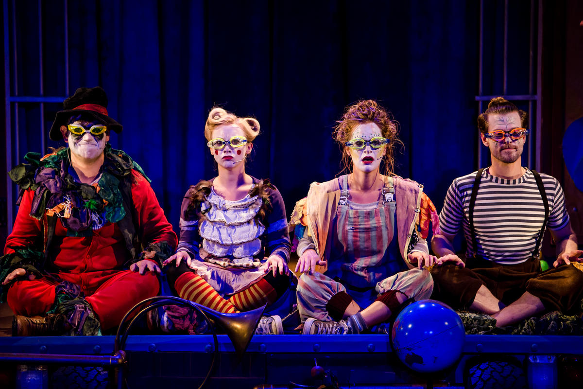Photograph from The Marvellous Imaginary Menagerie - lighting design by Christopher Withers
