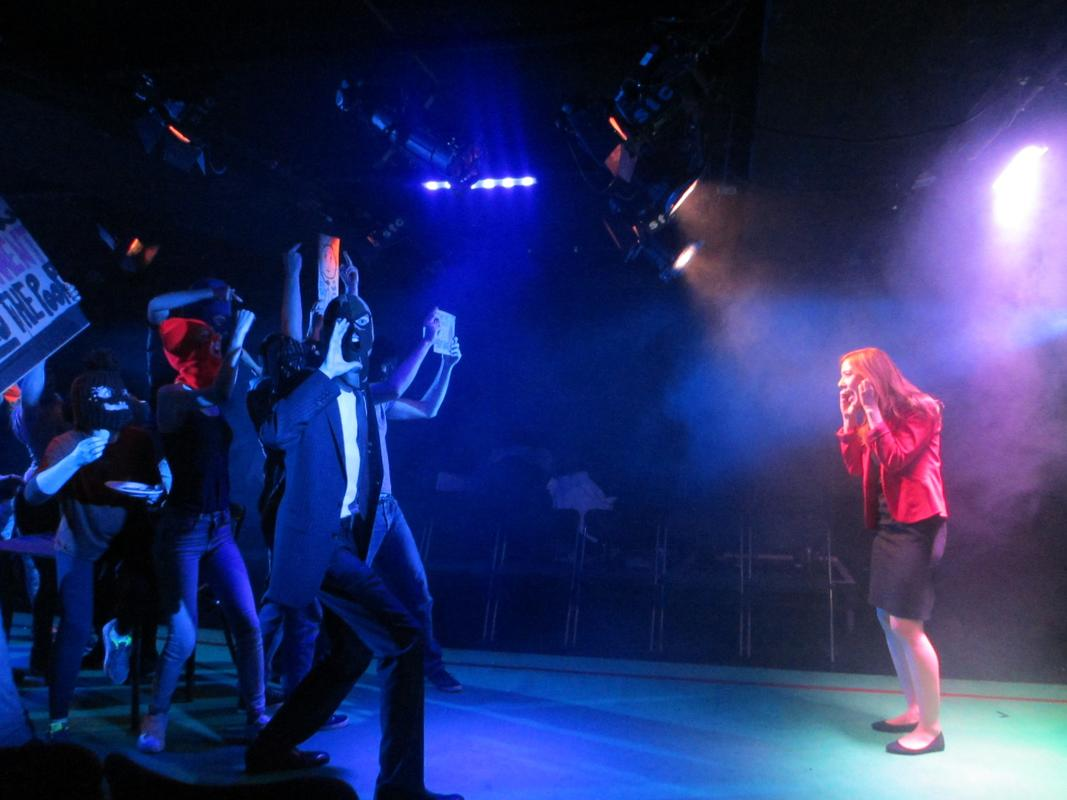 Photograph from Ratchet - lighting design by Tom White